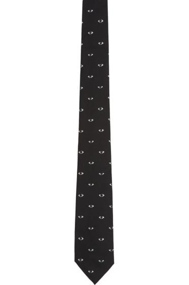 Kenzo - Black Eye Print Tie