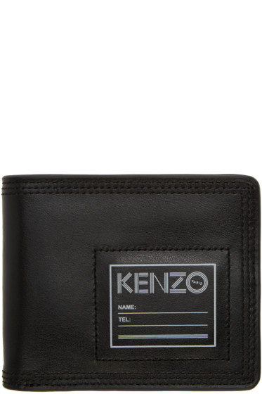 Kenzo - Black Leather ID Wallet