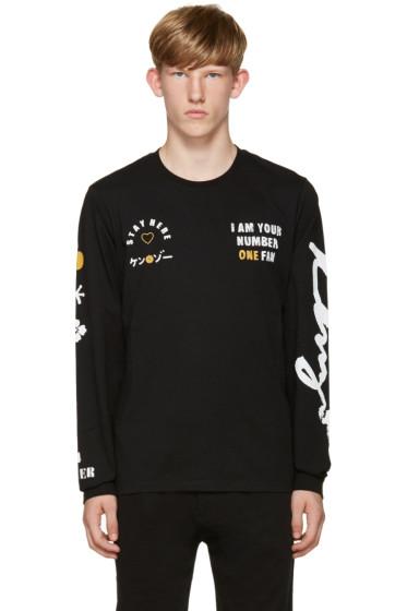 Kenzo - Black 'I Am Your #1 Fan' T-Shirt