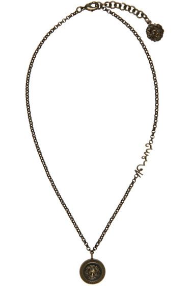 Versus - Brass Lion Necklace