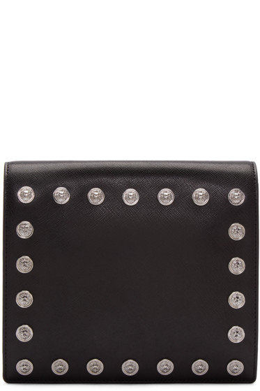 Versus - Black Studded Medallion Clutch