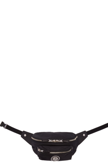 Versus - Black Nylon Logo Hip Pouch