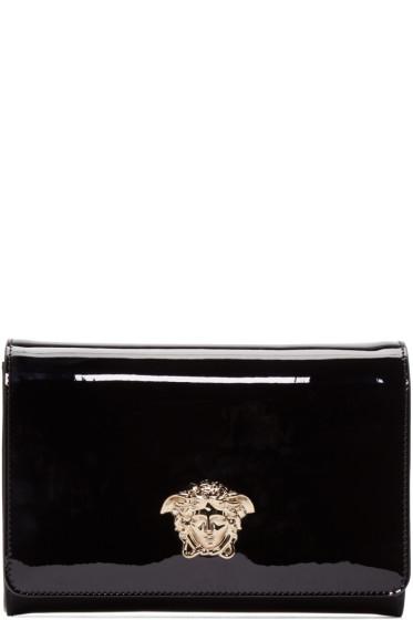 Versace - Black Patent Leather Evening Clutch
