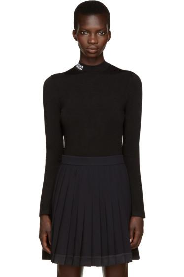 Versace - Black Mock Neck Sweater