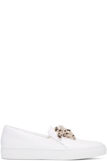 Versace - White Medusa Slip-On Sneakers