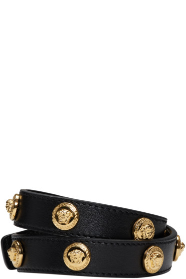 Versace - Black Medusa Wrap Bracelet