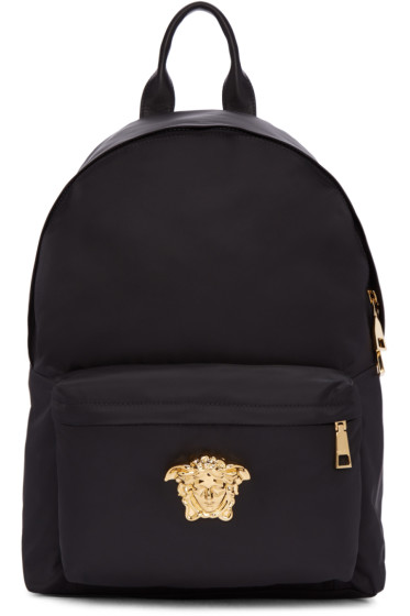 Versace - Black Nylon Medusa Backpack