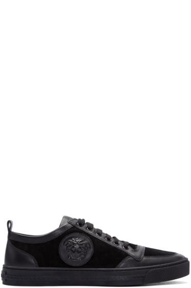 Versace - Black Suede Medusa Sneakers