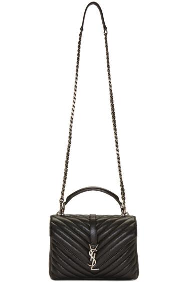 Saint Laurent - Black Medium Monogram College Bag
