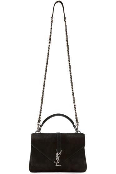 Saint Laurent - Black Croc-Embossed Monogram College Bag