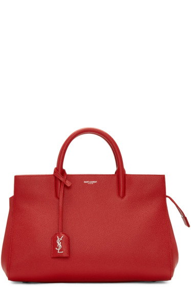 Saint Laurent - Red Small Cabas Rive Gauche Tote