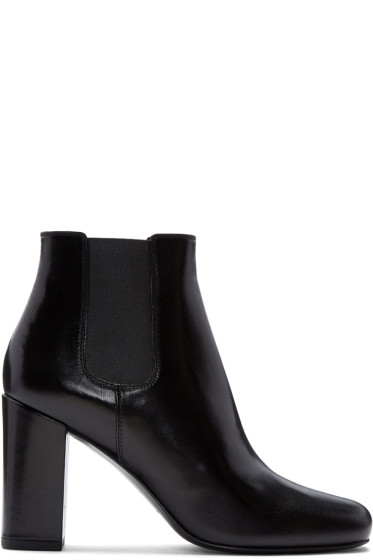 Saint Laurent - Black Leather Babies Boots