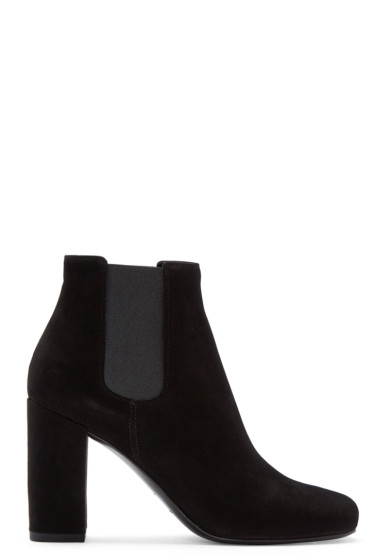 Saint Laurent - Black Suede Babies Boots