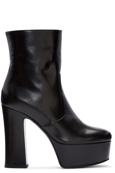 Saint Laurent - Black Platform Candy Boots
