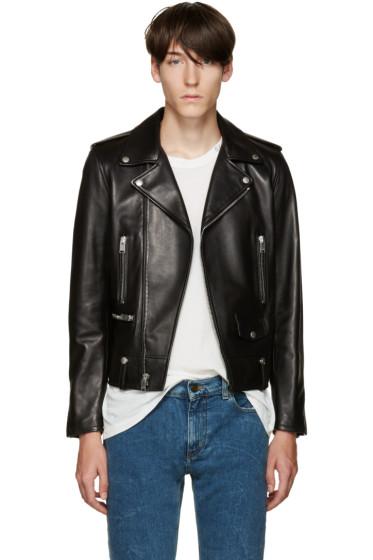 Saint Laurent - Black Leather Biker Jacket