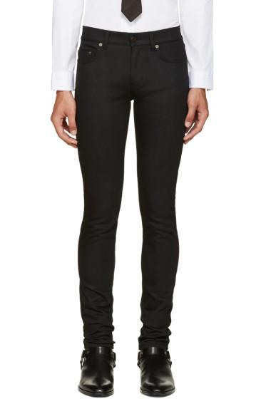 Saint Laurent - Black Raw Denim Jeans