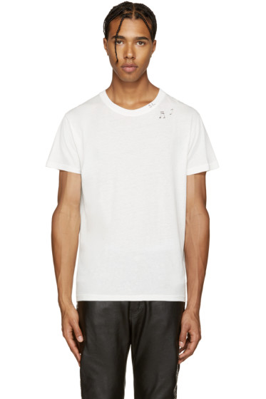 Saint Laurent - White Music Note T-Shirt