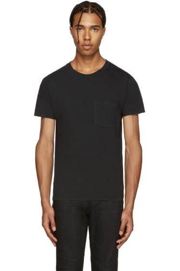 Saint Laurent - Black Logo Pocket T-Shirt