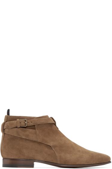 Saint Laurent - Tan Suede London Boots