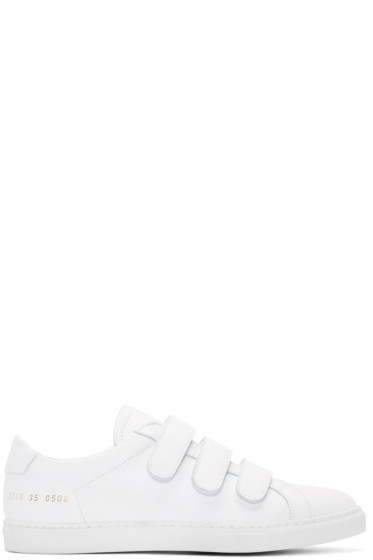 Woman by Common Projects - White Three-Strap Achilles Sneakers