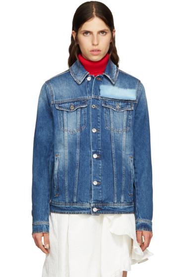 MSGM - Blue Fur Appliqué Jacket