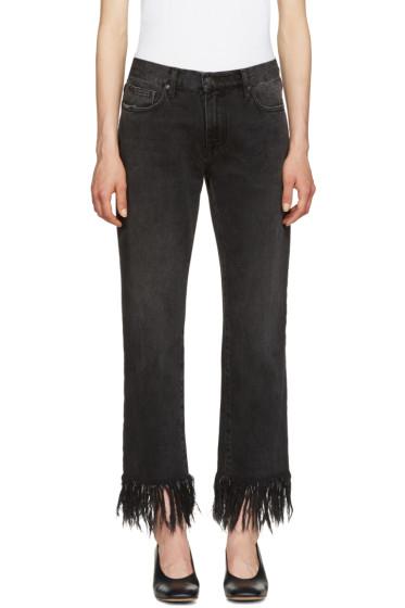 MSGM - Black Fringed Jeans