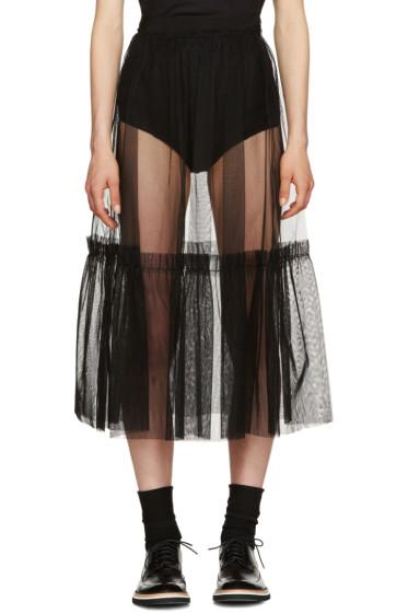 MSGM - Black Crinoline Skirt