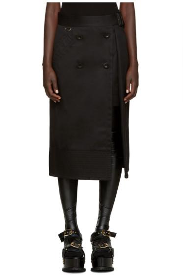 Sacai - Black Trench Wrap Skirt