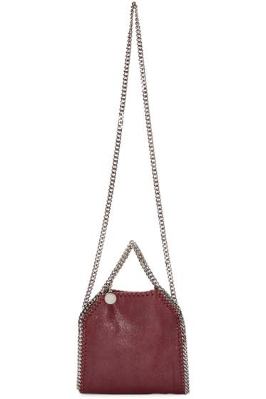 Stella McCartney - Burgundy Falabella Shaggy Deer Tiny Bag