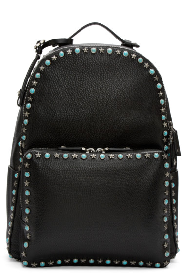 Valentino - Black Stone & Stars Backpack