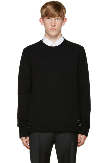 Valentino - Black Cashmere Buckle Sweater