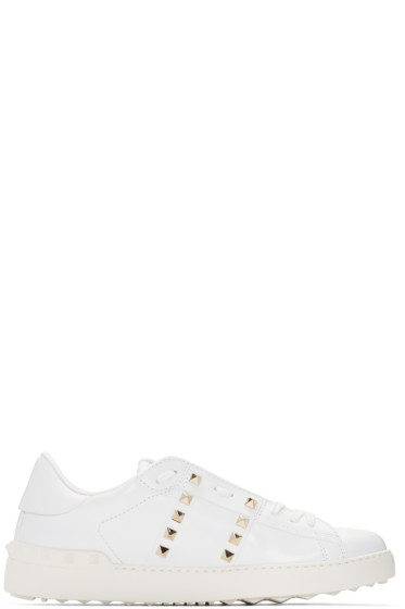 Valentino - White Studded Sneakers