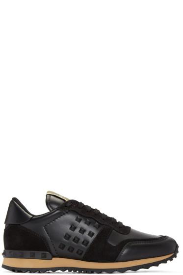 Valentino - Black Rockstud Sneakers