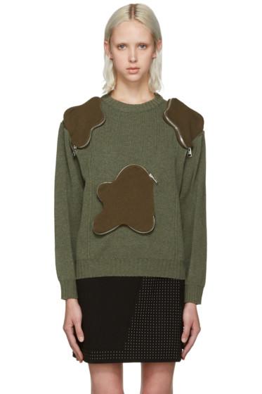 J.W.Anderson - Green 3D Pocket Sweater