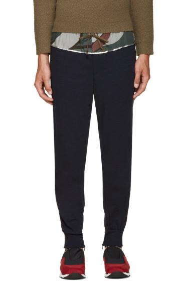 Kolor - Navy Wool Lounge Pants