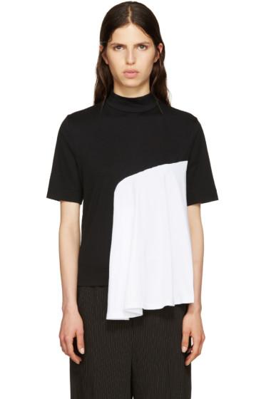 Facetasm - Black Mock-Neck T-Shirt