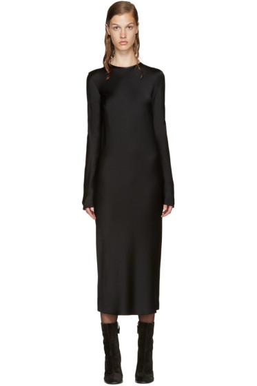 Haider Ackermann - Black Satin Dress