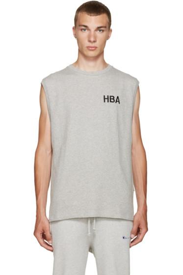Hood by Air - Grey Logo Tank Top