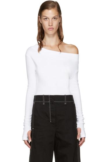 Jacquemus - White Single-Shoulder T-Shirt