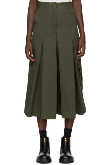 Each x Other - Green Military Pleated Culottes