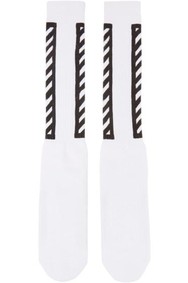 Off-White - White Logo Socks
