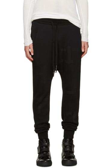 11 by Boris Bidjan Saberi - Black T Pattern Lounge Pants