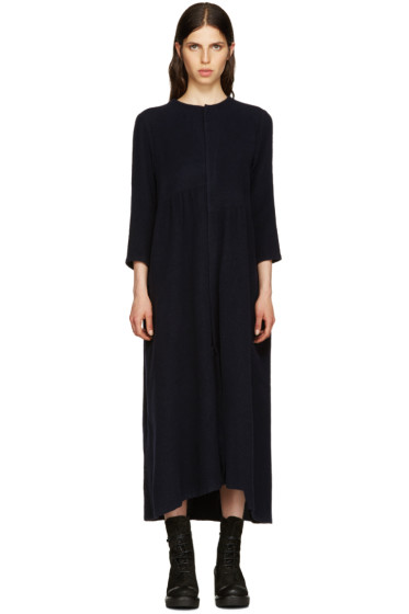 Y's - Navy Asymmetric Panelled Dress