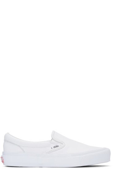Vans - White OG Classic Slip-On Sneakers