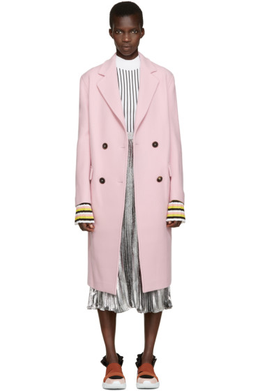 Emilio Pucci - Pink Wool Double-Breasted Coat