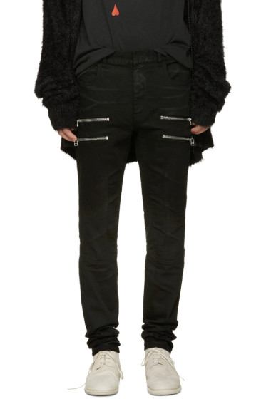 Faith Connexion - Black Zip Jeans