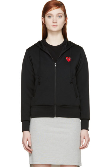 Comme des Garçons Play - Black Heart Patch Zip-Up Hoodie
