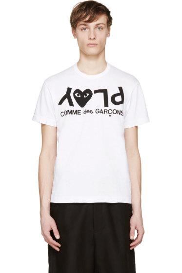 Comme des Garçons Play - White & Black Logo T-Shirt