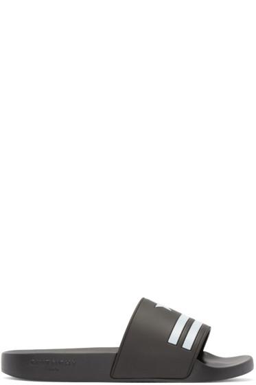 Givenchy - Black Stars & Stripes Slip-On Sandals