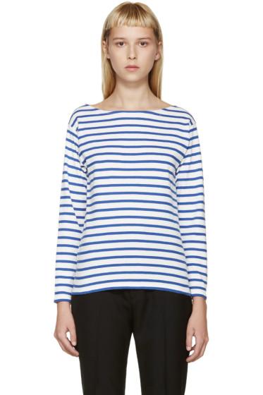 Saint Laurent - Blue & White Striped T-Shirt